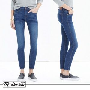 "MADEWELL 9"" High Rise Skinny Jeans Size 29T"